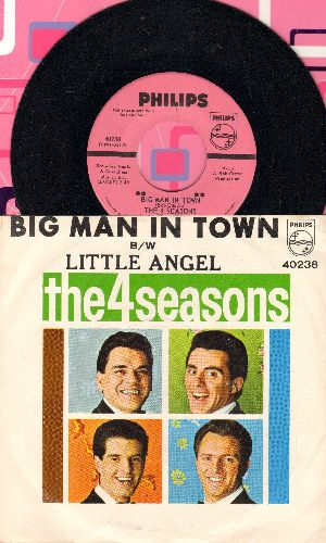 Four Seasons - Big Man In Town/Little Angel (DJ advance pressing with picture sleeve) - NM9/NM9 - 45 rpm Records