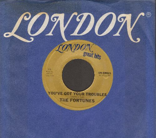 Fortunes - You've Got Your Troubles/Here It Comes Again (double-hit with London company sleeve) - EX8/ - 45 rpm Records