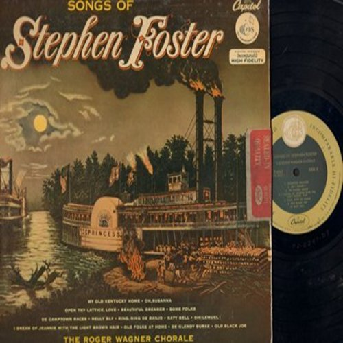 Wagner, Roger Chorale - Songs Of Stephen Foster: Beautiful Dreamer, De Camptown Races, Oh Susanna, Nelly Bly (vinyl MONO LP record) - NM9/EX8 - LP Records