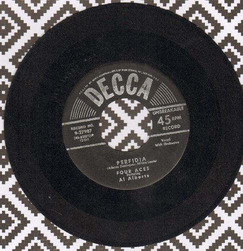 Four Aces - Perfidia/You Brought Me Love  - VG6/ - 45 rpm Records