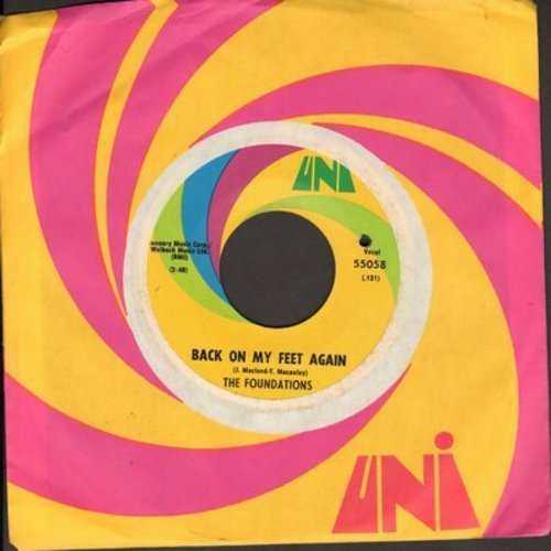 Foundations - Back On My Feet Again/I Can Take Or Leave Your Loving (with Uni company sleeve) - EX8/ - 45 rpm Records