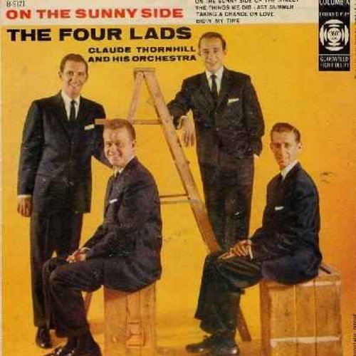 Four Lads - On The Sunny Side: On The Sunny Side Of The Street/The Things We Did Last Summer/Taking A Chance On Love/Bidin' My Time (vinyl EP record with picture cover) - EX8/VG7 - 45 rpm Records