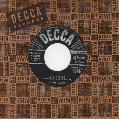 Four Aces - So Long/Amor (with Decca company sleeve) - NM9/ - 45 rpm Records