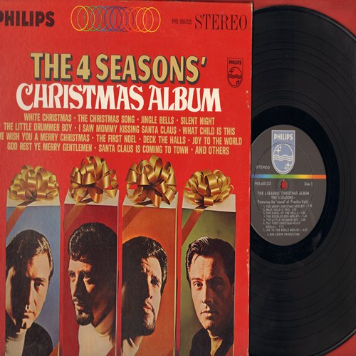 Four Seasons - Christmas Album: I Saw Mommy Kissing Santa Claus, We Wish You A Merry Christmas, Santa Claus Is Coming To Town, The First Noel, Christmas Tears (vinyl STEREO LP record, NICE condition!) - VG7/VG7 - LP Records