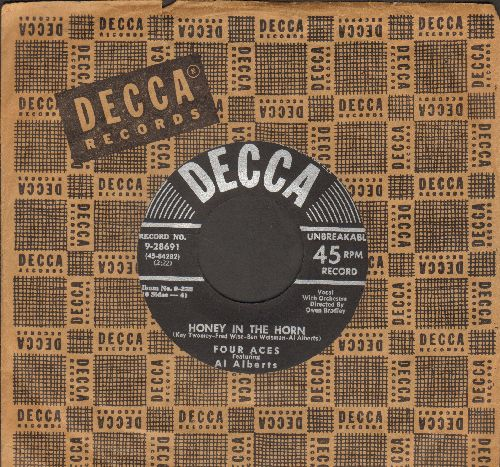 Four Aces - Honey In The Horn/Organ Grinder's Swing (with Decca company sleeve) - VG7/ - 45 rpm Records