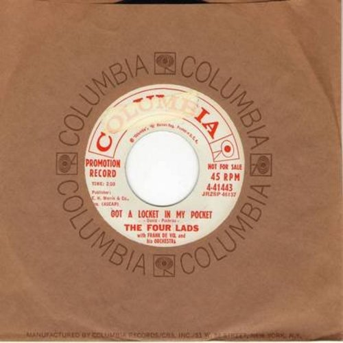 Four Lads - Got A Locket In My Pocket/The Real Thing (DJ advance copy with Columbia company sleeve) - EX8/ - 45 rpm Records