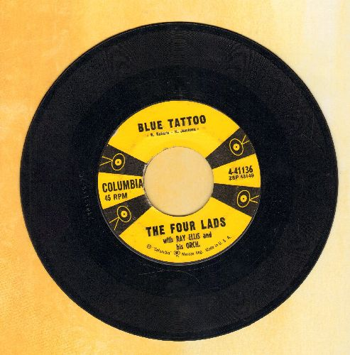 Four Lads - Blue Tattoo/There's Only One Of You - EX8/ - 45 rpm Records