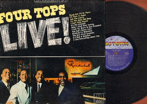 Four Tops - LIVE!: Reach Out I'll Be There, I Can't Help Myself, Baby I Need Your Loving, It's Not Unusual, The Girl From Ipanema, If I Had A Hammer (vinyl STEREO LP record) - EX8/NM9 - LP Records
