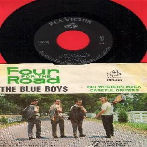 Blue Boys - Four For The Road: Bulldog/He's Just Mack To Me/Big Western Mack/Careful Drivers (vinyl EP record with picture sleeve) - M10/EX8 - 45 rpm Records