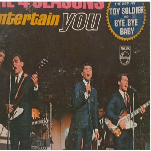 Four Seasons - The 4 Seasons Entertain You: Toy Soldier, Bye Bye Baby, Little Darlin', Somewhere, Big Man In Town (vinyl MONO LP record) - EX8/VG7 - LP Records