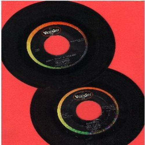 Four Seasons - 2 for 1 Special: Ain't That A Shame/Marlena (2 vintage first issue 45rpm records for the price of 1!) - VG7/ - 45 rpm Records