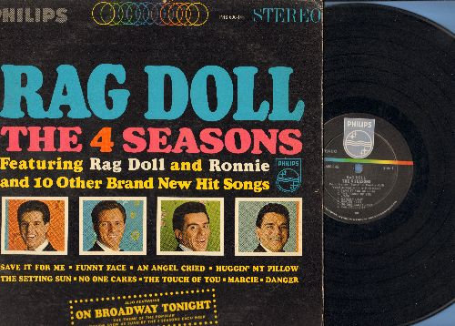 Four Seasons - Rag Doll: Ronnie, Save It For Me, On Broadway Tonight, Huggin' My Pillow, An Angel Cried (vinyl STEREO LP record) - VG7/VG7 - LP Records
