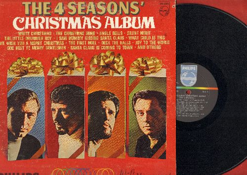 Four Seasons - Christmas Album: I Saw Mommy Kissing Santa Claus, We Wish You A Merry Christmas, Santa Claus Is Coming To Town, The First Noel, Deck The Halls, Christmas Tears (vinyl MONO LP record) - EX8/VG7 - LP Records