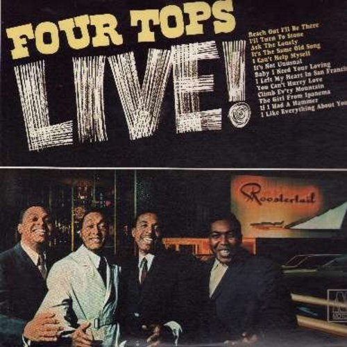 Four Tops - LIVE!: Reach Out I'll Be There, I Can't Help Myself, Baby I Need Your Loving, It's Not Unusual, The Girl From Ipanema, If I Had A Hammer (vinyl MONO LP record) - EX8/NM9 - LP Records