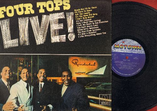 Four Tops - LIVE!: Reach Out I'll Be There, I Can't Help Myself, Baby I Need Your Loving, It's Not Unusual, The Girl From Ipanema, If I Had A Hammer (vinyl STEREO LP record) - VG7/EX8 - LP Records