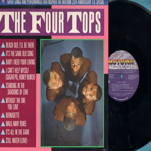 Four Tops - The Four Tops: Baby I Need Your Loving, I Can't Help Myself, Bernadette, Walk Away Renee, It's The Same Old Song (1983 issue of vintage Motown recordings) - M10/NM9 - LP Records