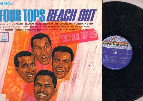 Four Tops - Reach Out: Bernadette, 7 Rooms Of Gloom, If I Were A Carpenter, Walk Away Renee, Last Train To Clarksville, I'm A Believer, Cherish (vinyl STEREO LP record, 1980s pressing) - VG7/EX8 - LP Records