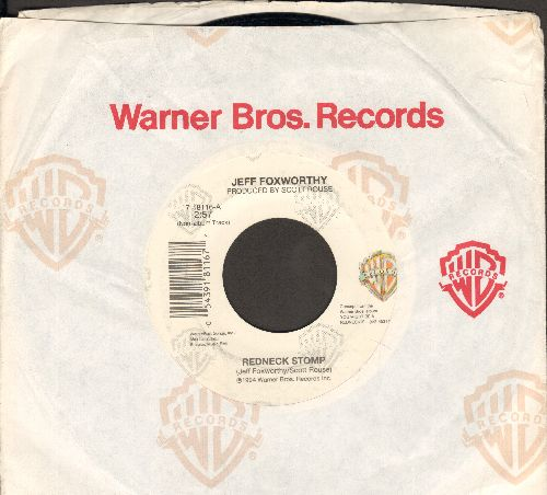 Foxworthy, Jeff - Redneck Stomp/Words In The South (with Warner Brothers company sleeve) - NM9/ - 45 rpm Records