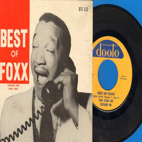 Foxx, Redd - Best Of Foxx Volume 1 Part 2: Grape Skins/The Soldiers/Take Your Life/Custard Pie (7 inch vinyl EP record with picture cover) - NM9/EX8 - 45 rpm Records
