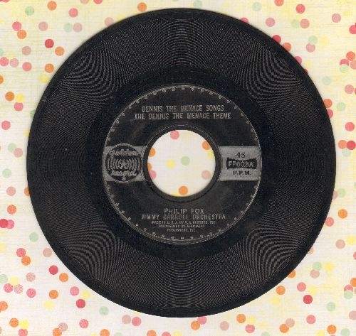 Fox, Philip with Jimmy Carroll Orchestra - Dennis The Menace Theme/Ka-Pow! Ka-Pow! Ka-Pow! (7 inch 45 rpm Little Golden Record) - VG7/ - 45 rpm Records