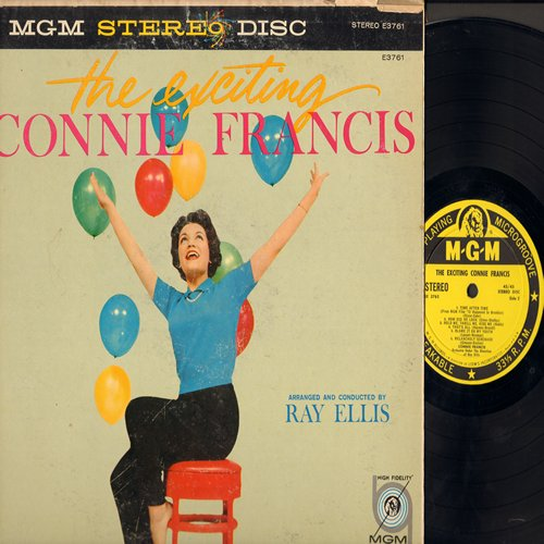 Francis, Connie - The Exciting Connie Francis: Come Rain Or Come Shine, Hold Me - Thrill Me - Kiss Me, Melancholy Serenade, Rock-A-Bye Your Baby With A Dixie Melody (RARE yellow label STEREO first issue) - VG7/VG6 - LP Records