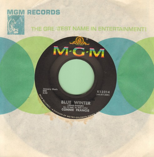 Francis, Connie - Blue Winter/You Know You Don't Want Me  - EX8/ - 45 rpm Records