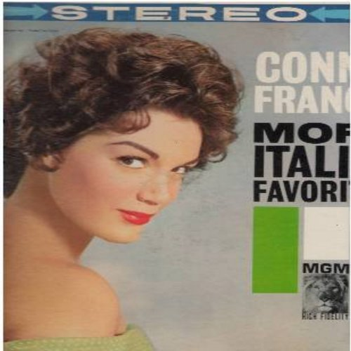 Francis, Connie - More Italian Favorites: Roman Guitar, Torero, Tell Me You're Mine, That's Amore, Return To Me, Funiculi Funicula (vinyl STEREO LP record, US pressing, sung in English and Italian) - VG7/VG6 - LP Records