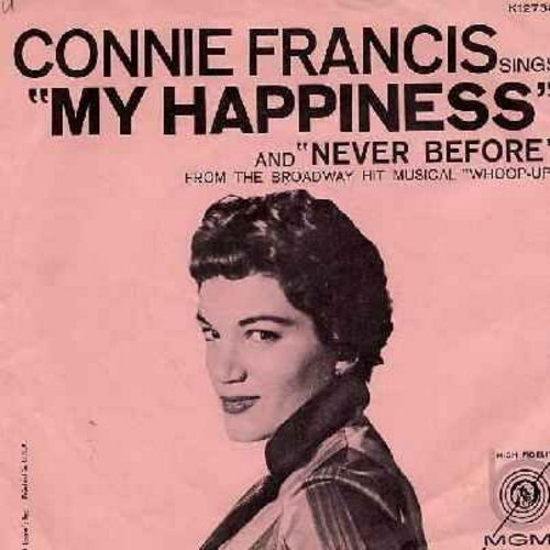 Francis, Connie - My Happiness/Never Before (with pink picture sleeve) - M10/EX8 - 45 rpm Records