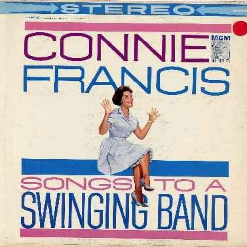 Francis, Connie - Songs To A Swinging Band: You're Nobody 'Til Somebody Loves You, Love Is Where You Find It, Gone With The Wind, Swanee (vinyl STEREO LP record) - EX8/VG7 - LP Records