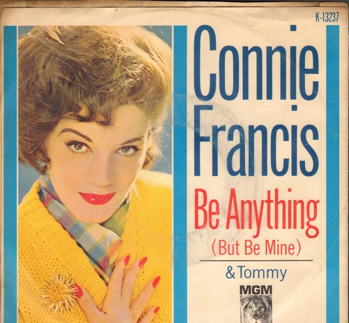 Francis, Connie - Tommy/Be Anything (But Be Mine) (with picture sleeve) - EX8/VG7 - 45 rpm Records