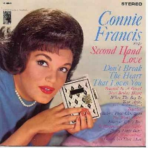 Francis, Connie - Connie Francis Sings Second Hand Love: Don't Break The Heart That Loves You, Someone Else's Boy (Schoener fremder Mann), Pretty Little Baby, Dreamboat (vinyl STEREO LP record) - EX8/VG7 - LP Records