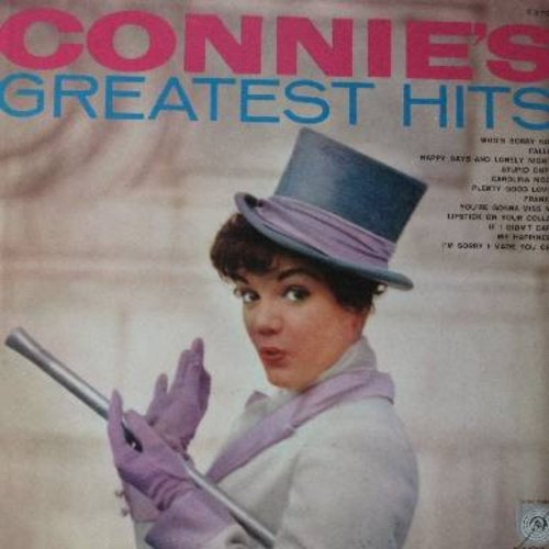 Francis, Connie - Connie's Greatest Hits: Who's Sorry Now, My Happiness, Stupid Cupid, Frankie, If I Didn't Care, Lipstick On Your Color (vinyl MONO LP record, less common early cover!) - EX8/EX8 - LP Records