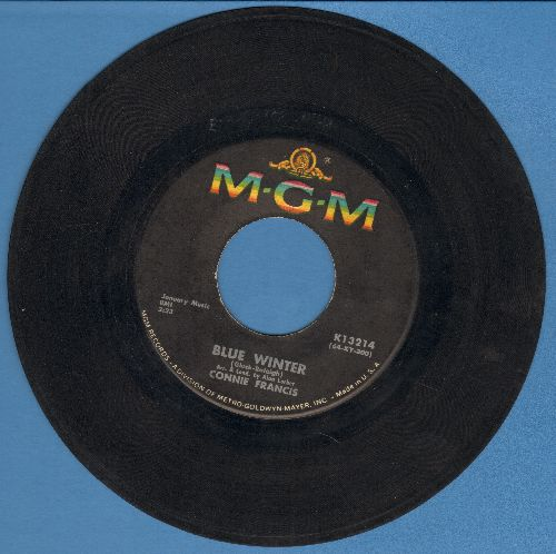 Francis, Connie - Blue Winter/You Know You Don't Want Me  - VG7/ - 45 rpm Records