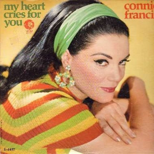 Francis, Connie - My Heart Cries For You: The Wayward Wind, Lonely Again, There'll Be No Teardrops Tonight, Anytime (vinyl MONO LP record, DJ advance copy) - NM9/EX8 - LP Records