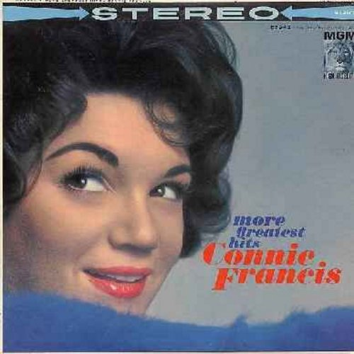 Francis, Connie - More Greatest Hits: Everybody's Somebody's Fool, Mama, God Bless America, Many Tears Ago, Valentino (vinyl STEREO LP record) - NM9/EX8 - LP Records