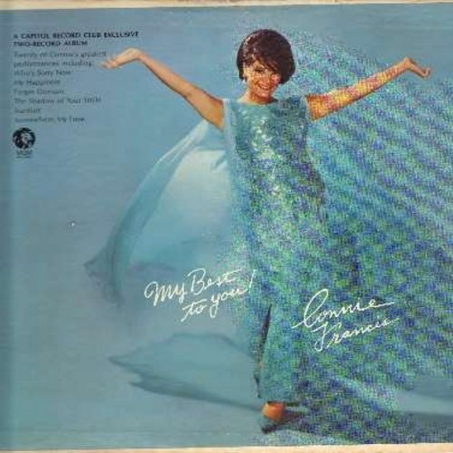 Francis, Connie - My Best To You!: Who's Sorry Now, Three Coins In The Fountain, My Happiness, April Love, La Bamba, Ma (He's Making Eyes At Me), Somewhere My Love (2 vinyl MONO LP record set, gate-fold cover) - EX8/VG6 - LP Records