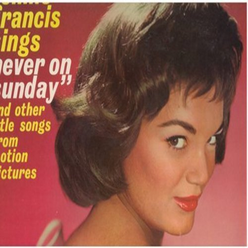 Francis, Connie - Never On A Sunday: (Mono) Song From Moulin Rouge, April Love, Tammy, Love Me Tender (vinyl MONO LP record) - NM9/EX8 - LP Records