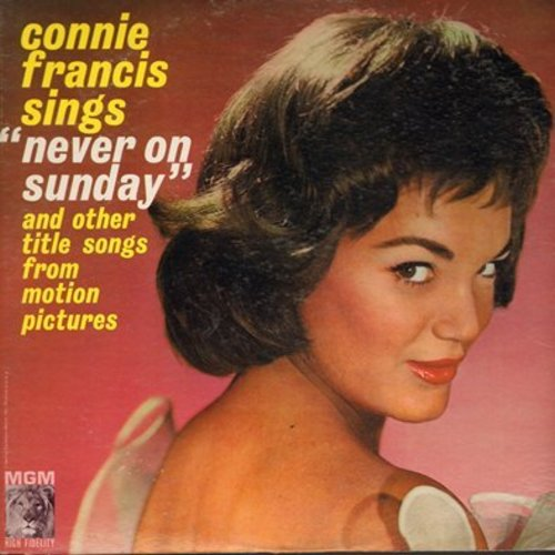 Francis, Connie - Never On A Sunday: Song From Moulin Rouge, April Love, Tammy, Love Me Tender (vinyl STEREO LP record) - NM9/EX8 - LP Records