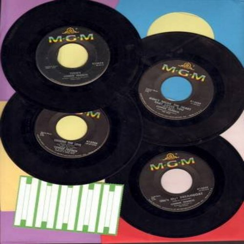 Francis, Connie - Connie Francis 4-Pack of Original first issue 45s. With strip of 5 blamk juke box labels. Songs include Teddy, Mama, Looking For Love, This Is The Happiest Moment, Hollywood, (He's My) Dreamboat, Don't Break The Heart That Loves You, Dro