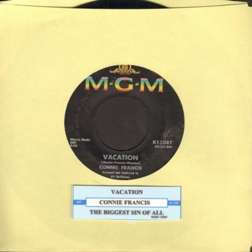 Francis, Connie - V-A-C-A-T-I-O-N/The Biggest Sin Of All (with juke box label) - VG7/ - 45 rpm Records