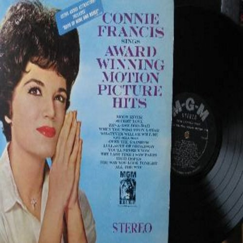 Francis, Connie - Award Winning Motion Picture Hits: Moon River, Secret Love, Over The Rainbow, High Hopes, When You Wish Upon A Star (vinyl STEREO LP record) - EX8/NM9 - LP Records