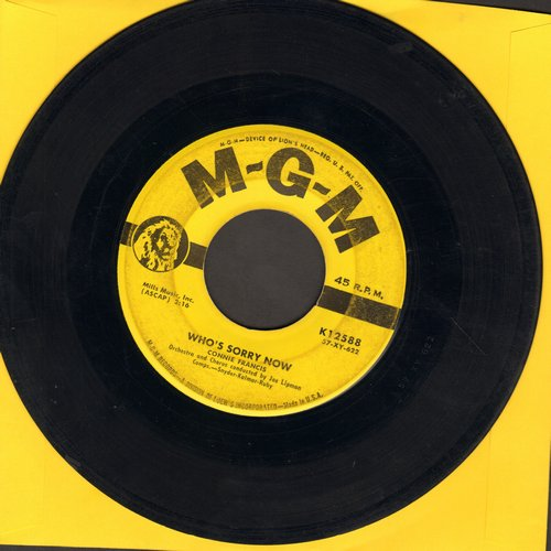 Francis, Connie - Who's Sorry Now (Connie Francis FIRST charted hit!)/You Were Only Fooling  - VG7/ - 45 rpm Records