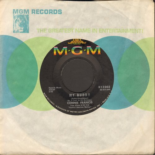 Francis, Connie - In The Summer Of His Years (Tribute to President John F. Kennedy)/My Buddy (with MGM company sleeve) - EX8/ - 45 rpm Records