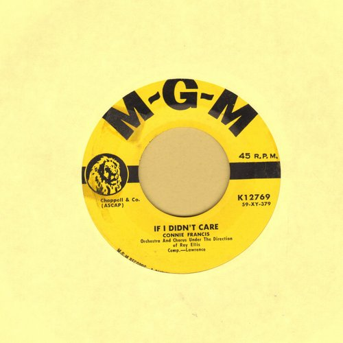 Francis, Connie - If I Didn't Care/Toward The End Of The Day (yeallow label first pressing) - EX8/ - 45 rpm Records