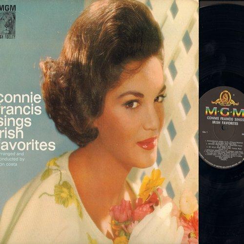 Francis, Connie - Sings Irish Favorites: MacNamara's Band, Danny Boy, Too-Ra-Loo-Ra-Loo-Ral, When Irish Eyes Are Smiling, Dear Old Donegal (vinyl MONO LP record, NICE condition!) - M10/EX8 - LP Records