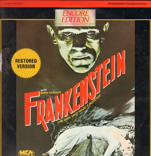 Frankenstein - Frankenstein - LASER DISC Restored Version of the 1931 Horror Classic starring Boris Karloff ( This is a LASER DISC, not any other kind of media) - NM9/VG7 - Laser Discs