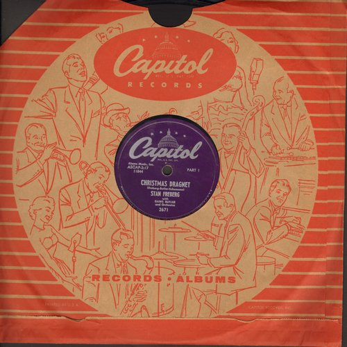 Freberg, Stan - Christmas Dragnet (Parts 1 + 2) (10 inch 78rpm record with Capitol company sleeve) - EX8/ - 78 rpm