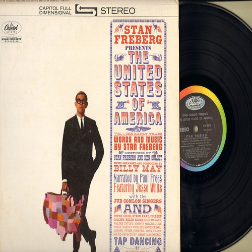 Freberg, Stan - Stan Freberg Presents The United States Of America - One of the Classic Novelty/Satire Artists with some of his best patriotic material. (vinyl STEREO LP record) - EX8/VG7 - LP Records