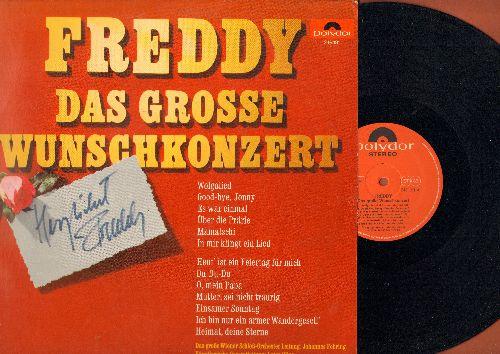 Freddy (Quinn) - Das Grosse Wunschkonzert: Goodbye Johnny, Wolgalied, Mamatschi, Du Du Du, O Mein Papa, Heimat Deine Sterne, Mutter Sei Nicht Traurig (vinyl STEREO LP record, German Pressing, sung in German) - NM9/NM9 - LP Records