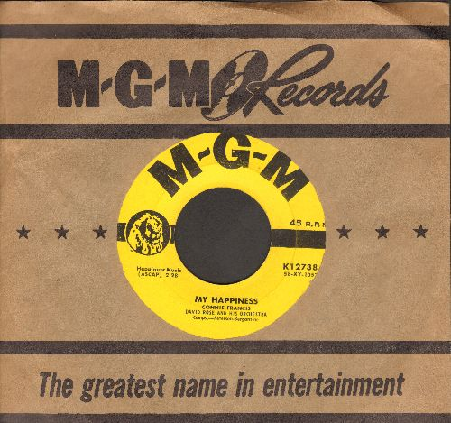 Francis, Connie - My Happiness/Never Before (yellow label first issue with MGM company sleeve) - EX8/ - 45 rpm Records